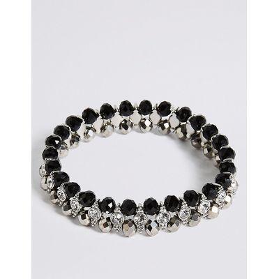 M&S Collection Diamanté Glamour Rows Bracelet