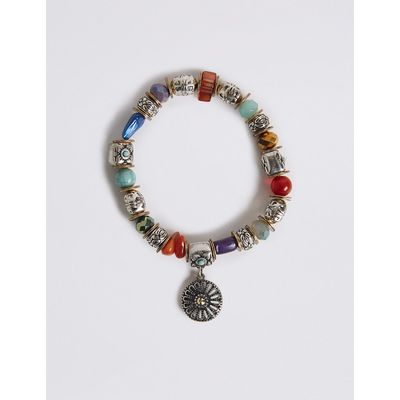 M&S Collection Etched Disc Stretch Bracelet