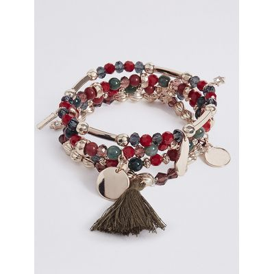 M&S Collection 4 Pack Mongolia Stretch Bracelets
