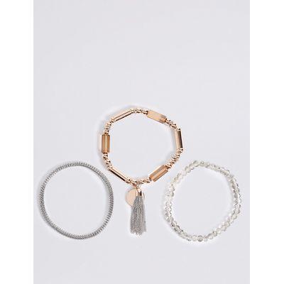 M&S Collection 3 Pack Stretch Bracelets
