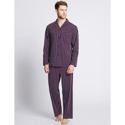M&S Collection Pure Cotton Striped Pyjamas