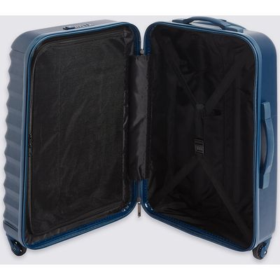 M&S Collection Medium 4 Wheel Essential Hard Suitcase with Security Zip