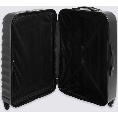 M&S Collection Large 4 Wheel Essential Hard Suitcase with Security Zip