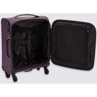 M&S Collection Cabin 4 Wheel Lightweight Soft Suitcase
