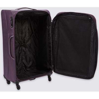 M&S Collection Large 4 Wheel Lightweight Soft Suitcase