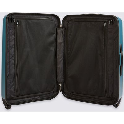 M&S Collection Medium 4 Wheel Hard Suitcase with Security Zip