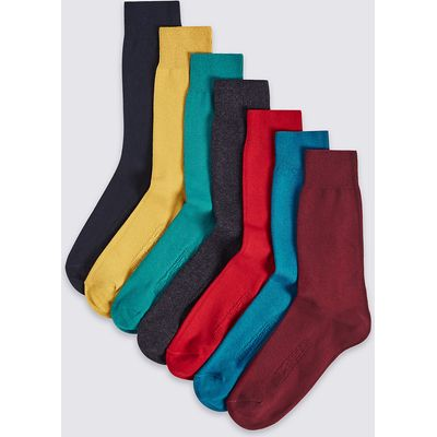 M&S Collection 7 Pairs of Cool & Freshfeet Cotton Rich Sock