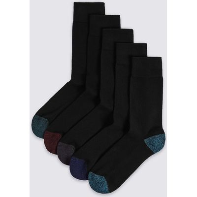 M&S Collection 5 Pairs of Cool & Freshfeet Cushioned Sole Socks
