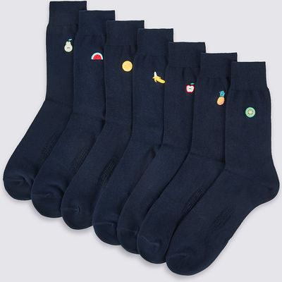 M&S Collection 7 Pairs of Cool & Freshfeet Cotton Rich Socks