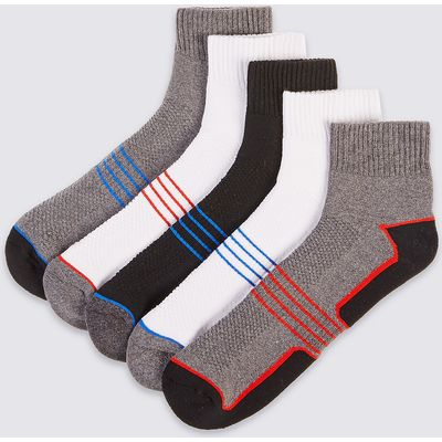 M&S Collection 5 Pairs of Cool & Fresh Cotton Rich Sports Socks