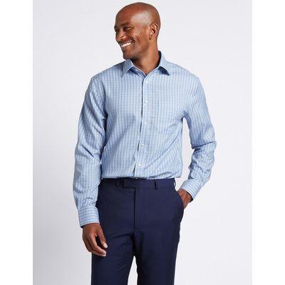 M&S Collection Pure Cotton Non-Iron Checked Shirt