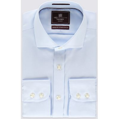 M&S Collection Luxury Pure Cotton Non-Iron Slim Fit Shirt