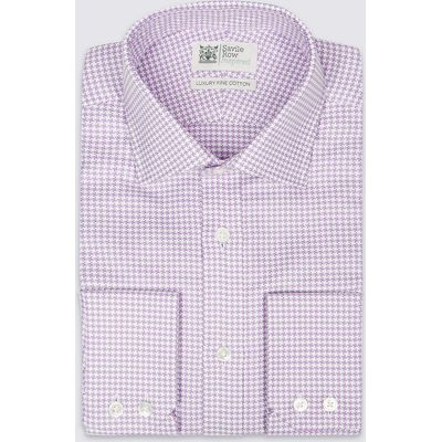 Savile Row Inspired Pure Cotton Easy to Iron Checked Shirt