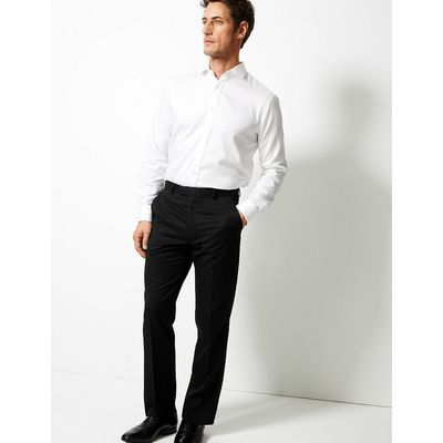 M&S Collection Black Tailored Fit Trousers