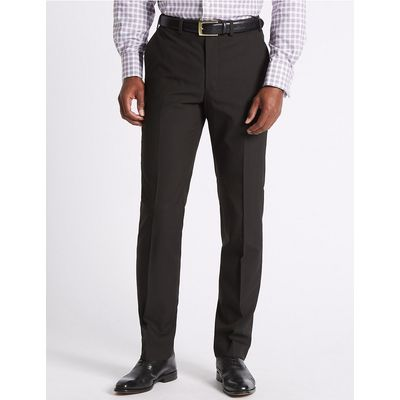 M&S Collection Brown Tailored Fit Trousers