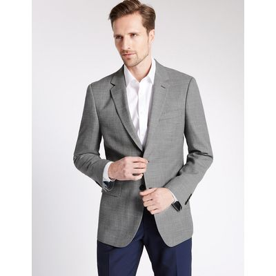 M&S Collection Big & Tall Textured Single Breasted Jacket