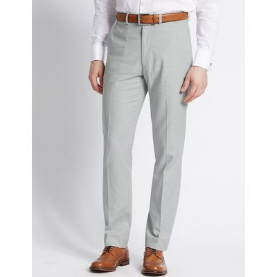M&S Collection Linen Rich Tailored Fit Trouser