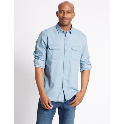 M&S Collection Denim Shirt with Pockets