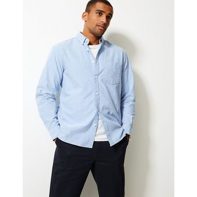 M&S Collection Pure Cotton Easy Care Oxford Shirt