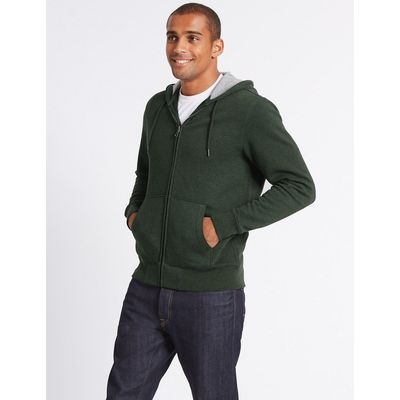M&S Collection Cotton Rich Hooded Top