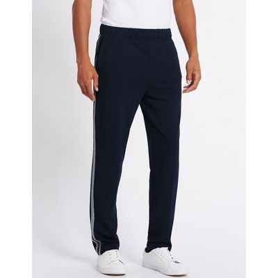 M&S Collection Cotton Rich Tailored Fit Textured Joggers