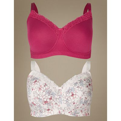 M&S Collection 2 Pack Post Surgery Full Cup Bra A-E