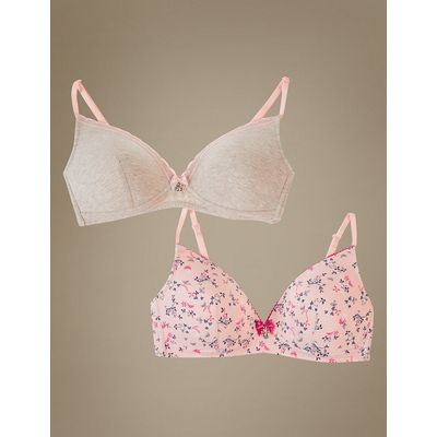 Angel 2 Pack Moulded Non Wired Full Cup Bras