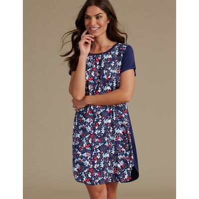 M&S Collection Floral Print Short Nightdress