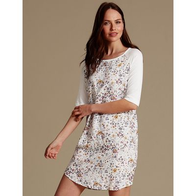 M&S Collection Floral Print Nightdress
