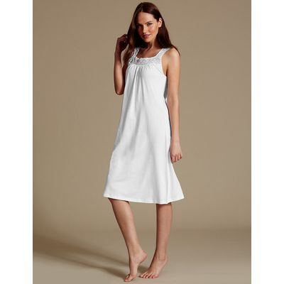 M&S Collection Modal Blend Crochet Trim Nightdress