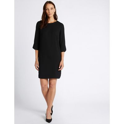 M&S Collection Bar Back 3/4 Sleeve Tunic Dress