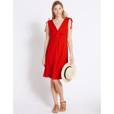 M&S Collection Knot Front Sleeveless Beach Dress