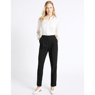 M&S Collection Side Zip Slim Leg Trousers
