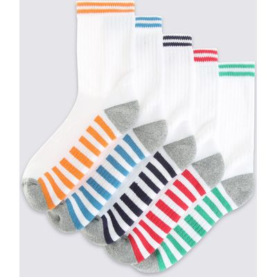 5 Pack of Cotton Rich Freshfeet Sports Socks (3-14 Years)