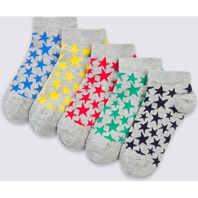5 Pairs of Freshfeet Trainer Liner Socks (3-16 Years)