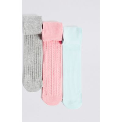 3 Pairs of Cotton Rich Freshfeet Tights (18 Months - 14 Years)