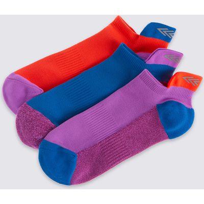 3 Pairs of Freshfeet Trainer Liner Socks (3-14 Years)