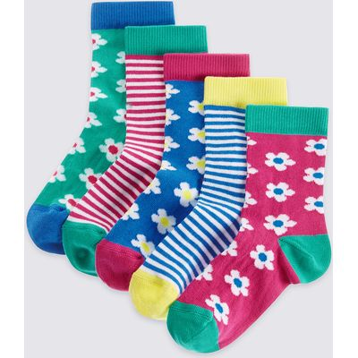 5 Pairs of Cotton Rich Socks with Freshfeet (1-6 Years)