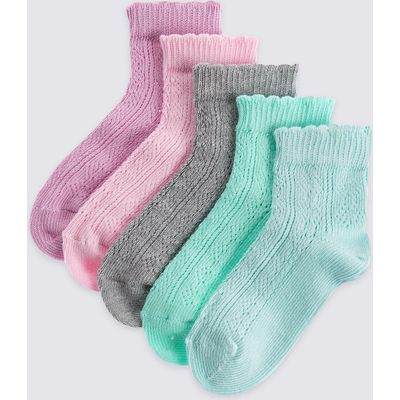 5 Pack of Freshfeet Cotton Rich Socks (12 Months - 14 Years)