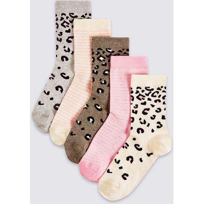 5 Pairs of Freshfeet Cotton Rich Socks (1-14 Years)