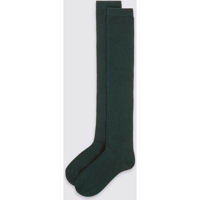 2 Pairs of Over the Knee Socks with Freshfeet (3-14 Years)