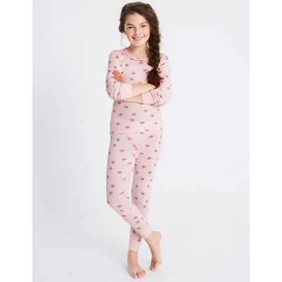 Cotton Blend Floral Print Thermal Set (18 Months - 16 Years)
