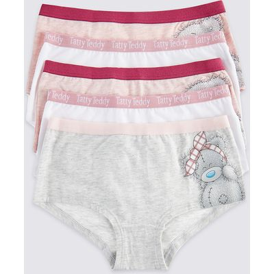 Tatty Teddy 5 Pack Cotton Shorts with Stretch (6-16 Years)