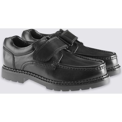 Kids' Leather Riptape School Shoes with Freshfeet