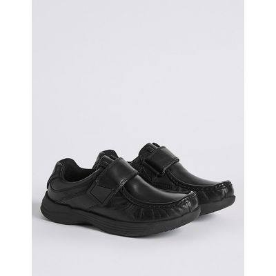 Kids' leather Riptape School Shoes