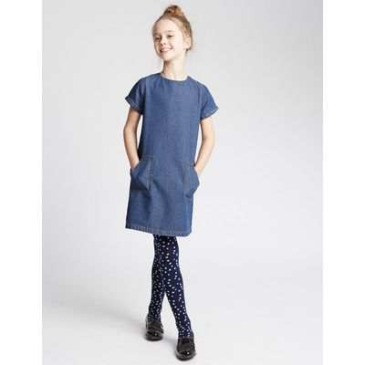 Pure Cotton A-Line Dress (3-14 Years)