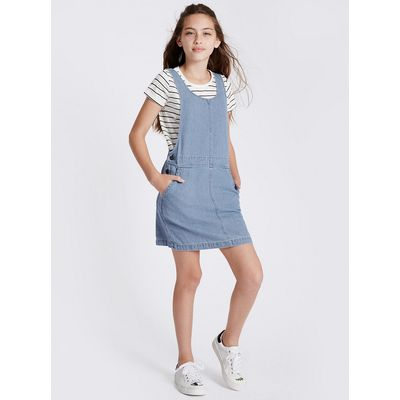 Pure Cotton Denim Dress Outfit with StayNEW (3-14 Years)