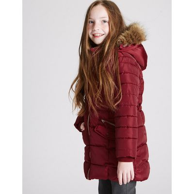 Faux Fur Padded Coat (3-16 Years)