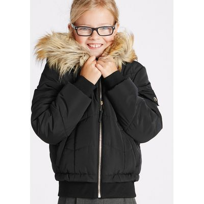 Faux Fur Zipped Through Jacket (3-16 Years)