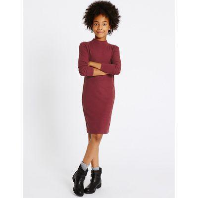 Long Sleeve Jersey Dress (3-14 Years)